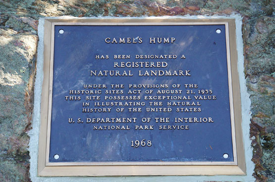 camels hump registered natural landmark 1968