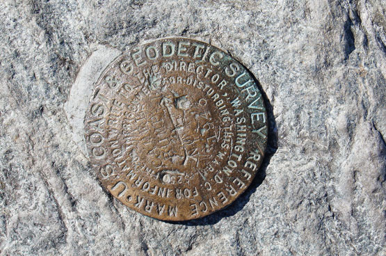 camels hump summit survey marker vermont vt geodetic