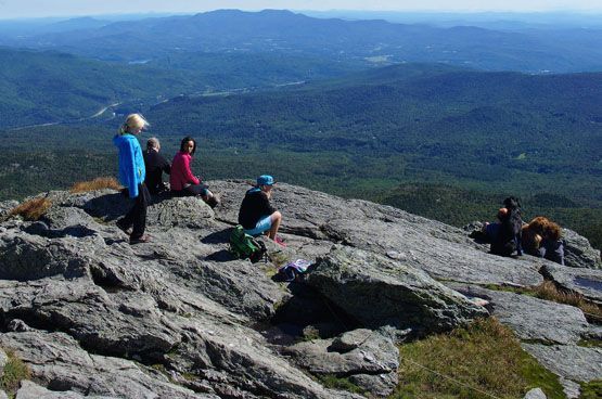 summit camels hump vermont vt camels hump mountain views